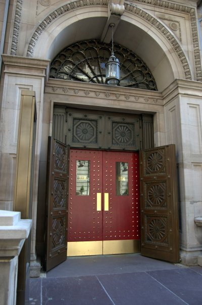 Front doors of the Boston Athenaeum
