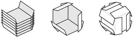Card cube diagram