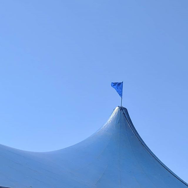 Abstract shot of circus tent