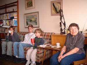 Grandma O in her apartment