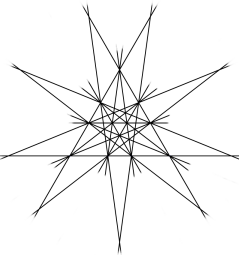 Stellation face of the icosahedron