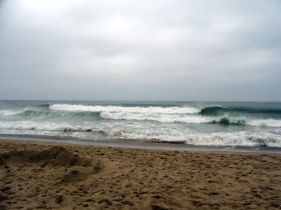 The waves on Nauset Light beach due to Irene