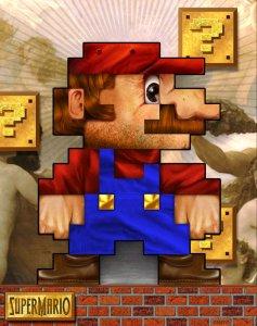 Super Mario, sprite fine art