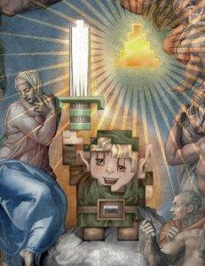 Link from Zelda, sprite fine art