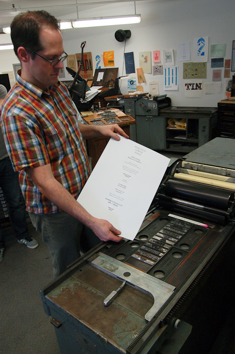 The first sheet off the press