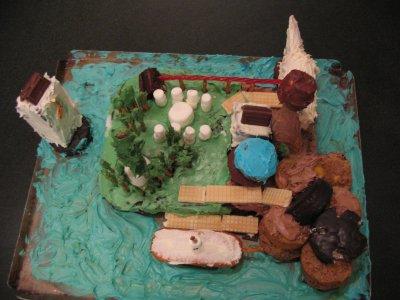Myst island birthday cake