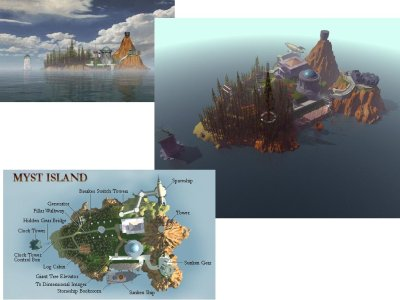 Myst island screenshots