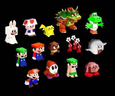 Paper Mario figures