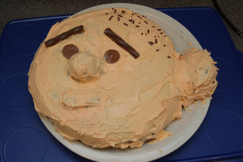Karl Pilkington, as cake