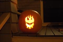 Gurren lagann brigade logo pumpkin