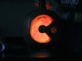 Cyan Worlds logo pumpkin