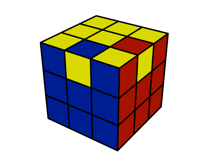 A Rubik's Cube with two edges flipped