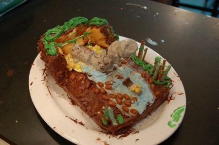 Lost smoke monster cake