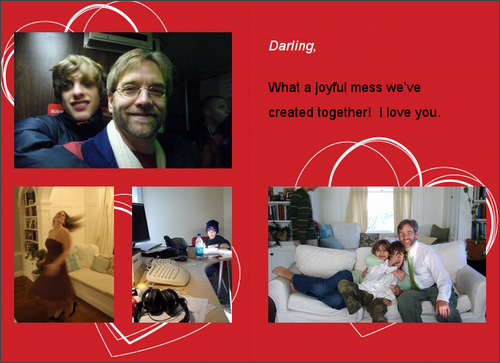 A valentine for my sweetie!