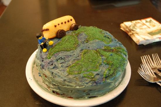 Grandma O circling the globe