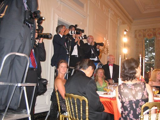 Photographers clamoring for photos of Bush