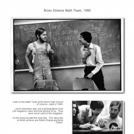 Tabblo: Bronx Science Math Team, 1980
