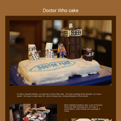 Tabblo: Doctor Who cake