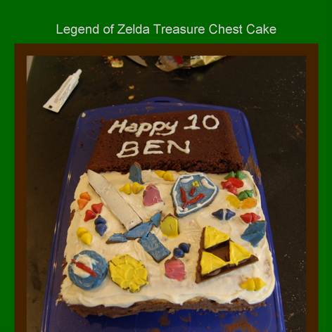 Tabblo: Legend of Zelda Treasure Chest Cake
