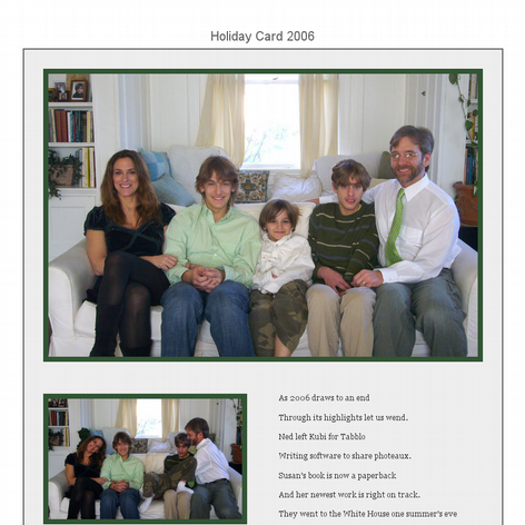 Tabblo: Holiday Card 2006