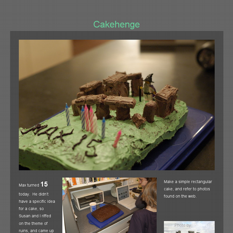 Tabblo: Cakehenge