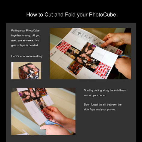 Tabblo: How to Cut and Fold your PhotoCube