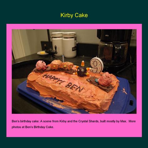 Tabblo: Kirby Cake
