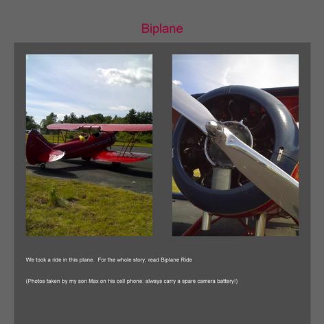 Tabblo: Biplane