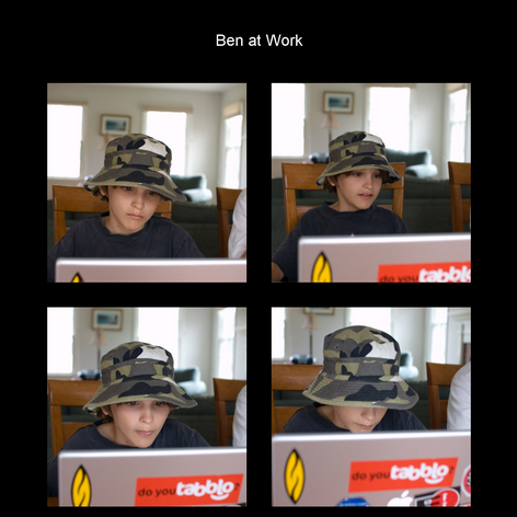 Tabblo: Ben at Work