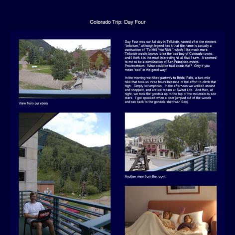 Tabblo: Colorado Trip:  Day Four