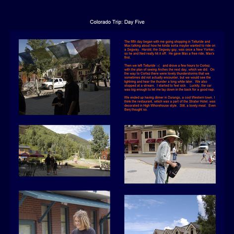 Tabblo: Colorado Trip:  Day Five