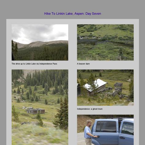 Tabblo: Hike To Linkin Lake, Aspen:  Day Seven