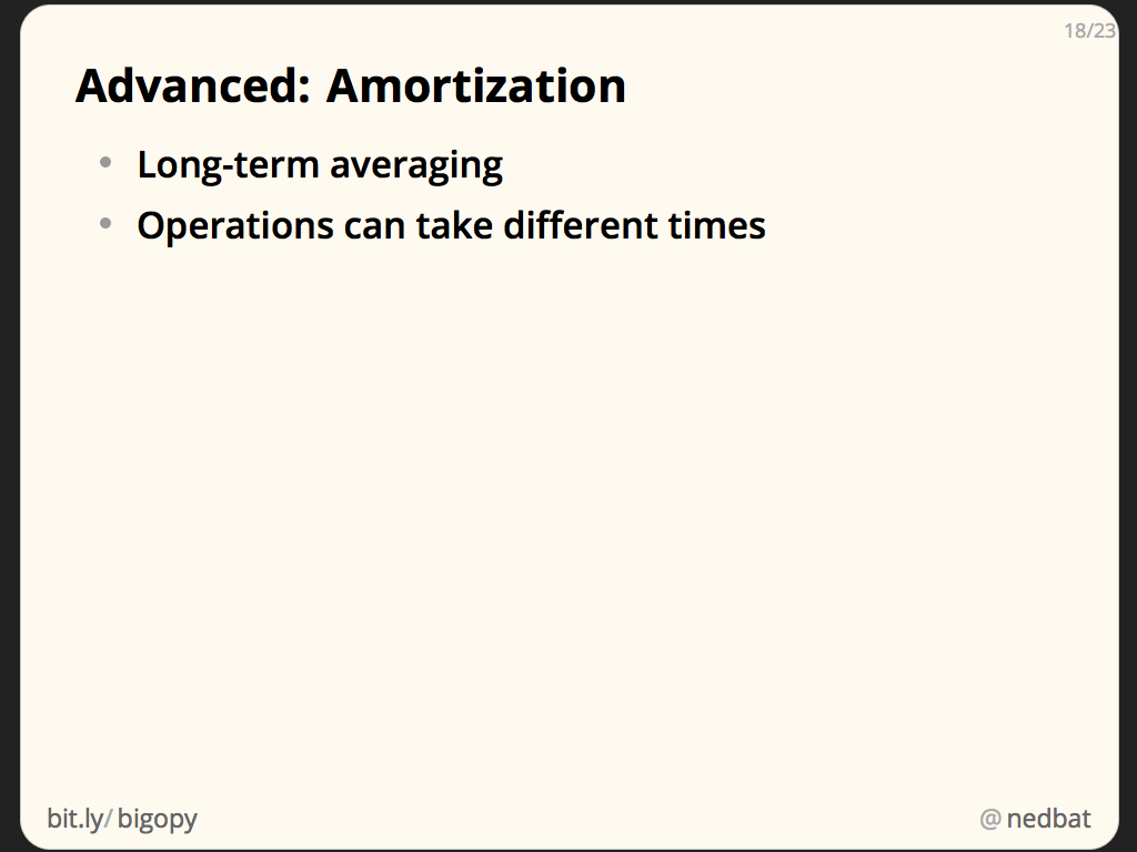 Advanced: Amortization