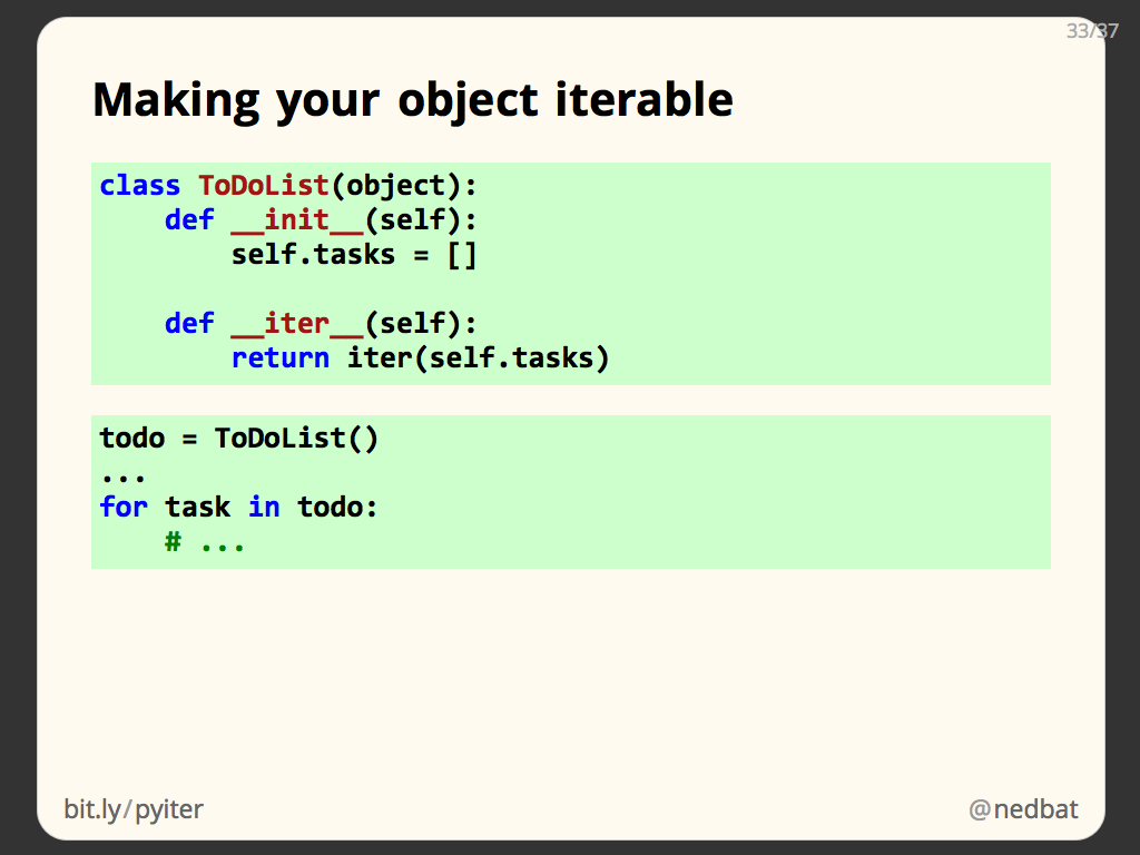 Making your object iterable