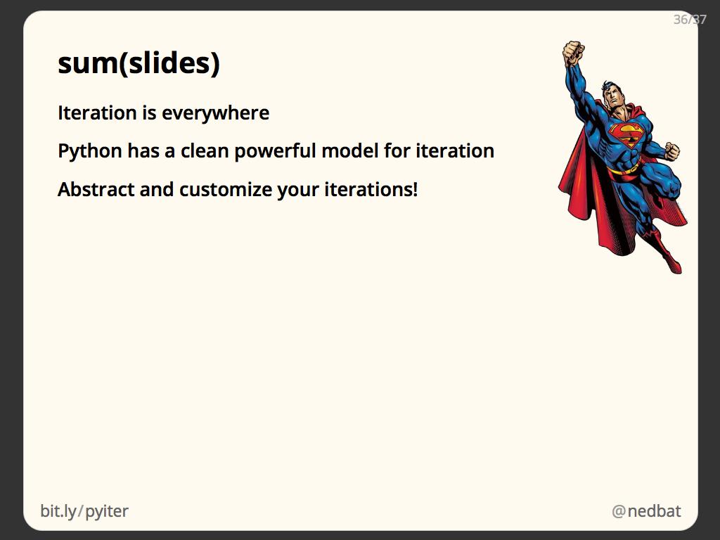 sum(slides)