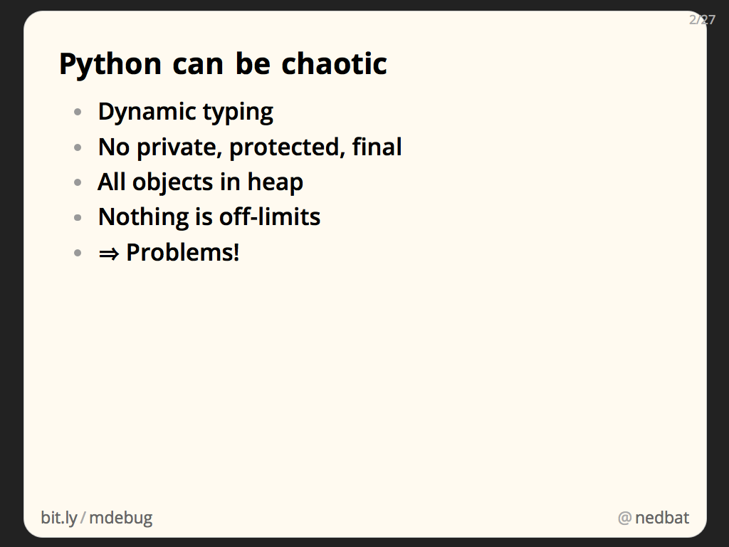 Python can be chaotic