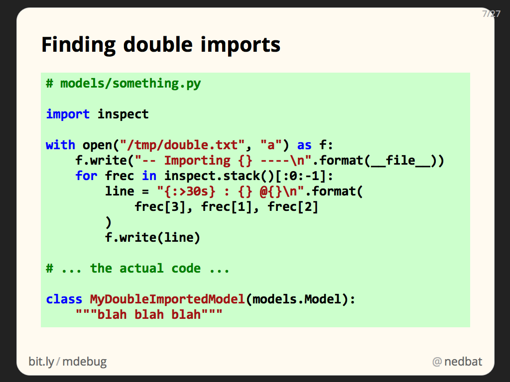 Finding double imports