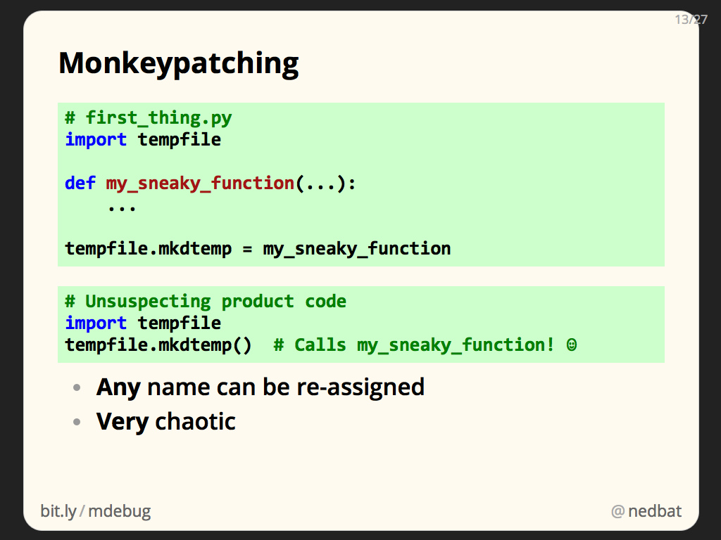 Monkeypatching