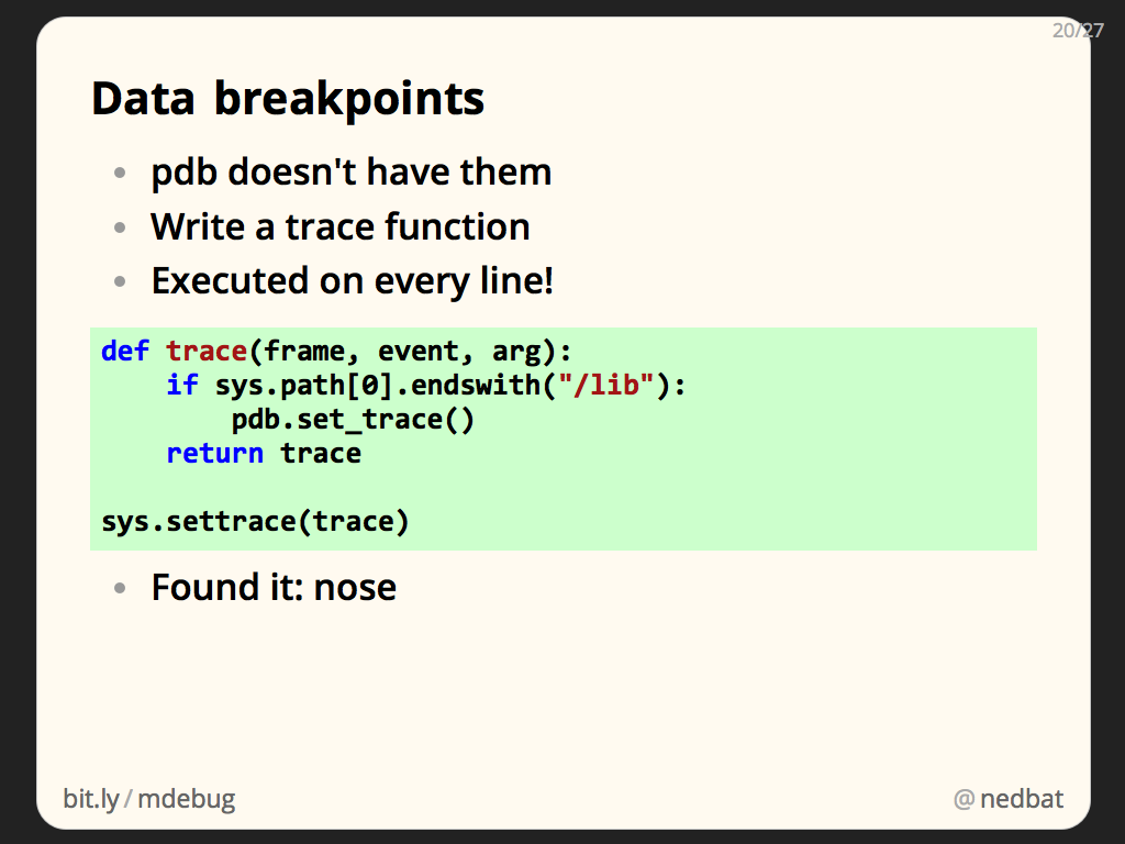 Data breakpoints