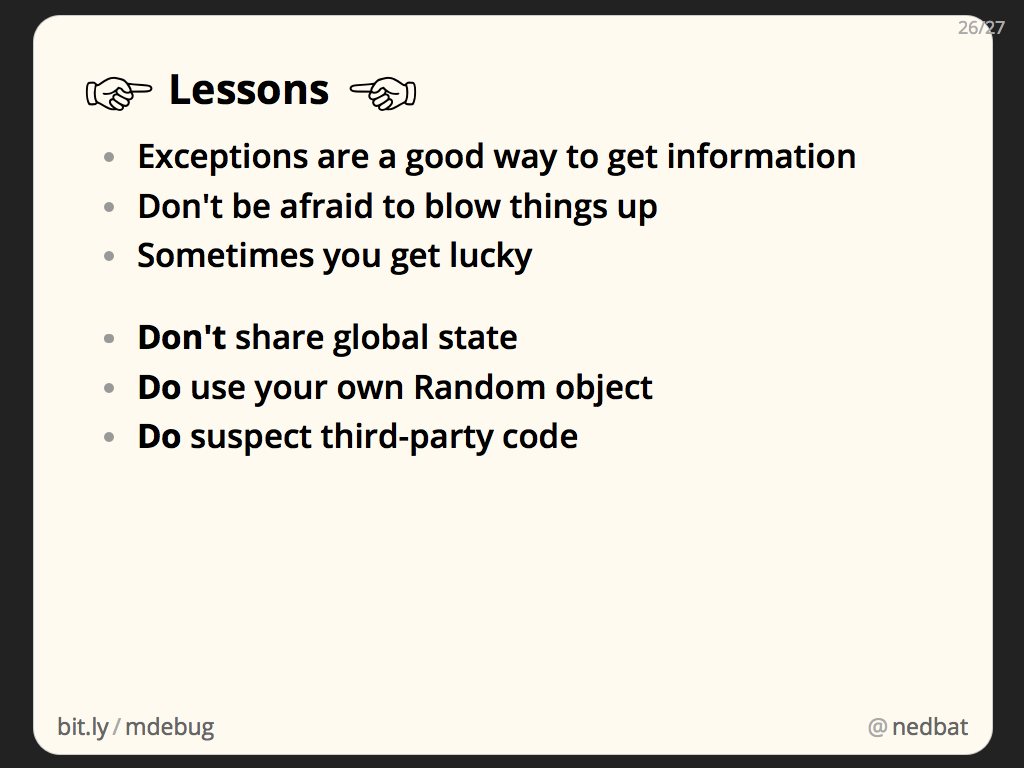 ☞ Lessons ☜