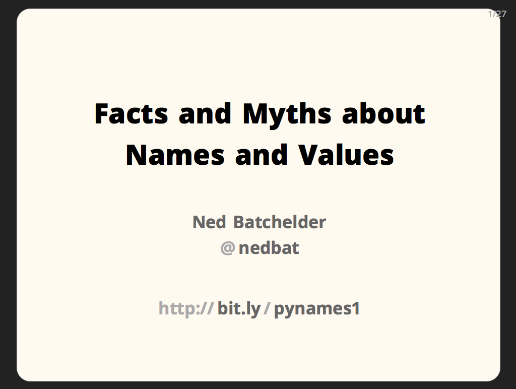 Facts and Myths about Names and Values