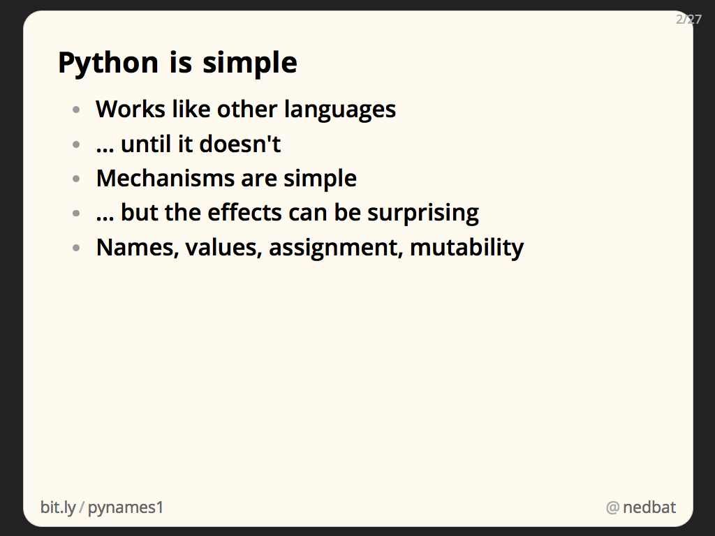 Python is simple