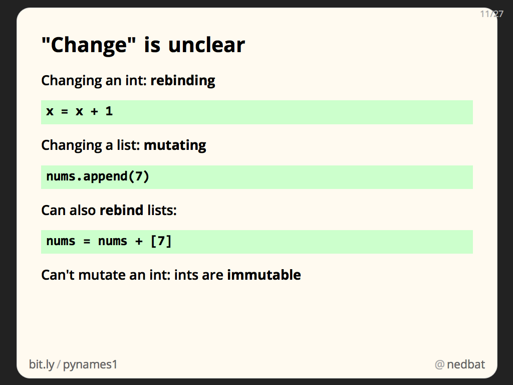 """Change"" is unclear"