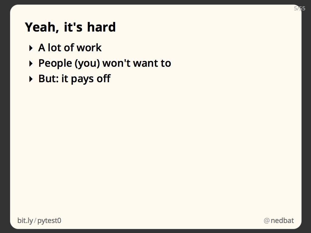 Yeah, it's hard