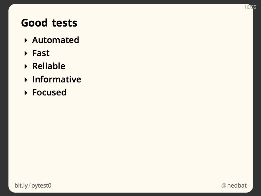 Good tests