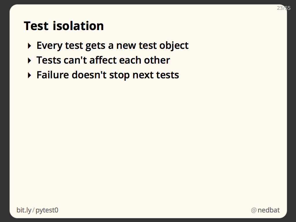 Test isolation
