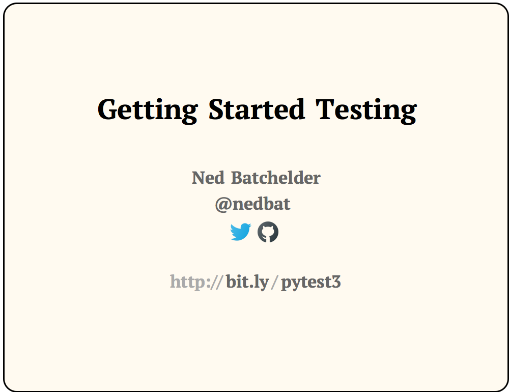 Getting Started Testing