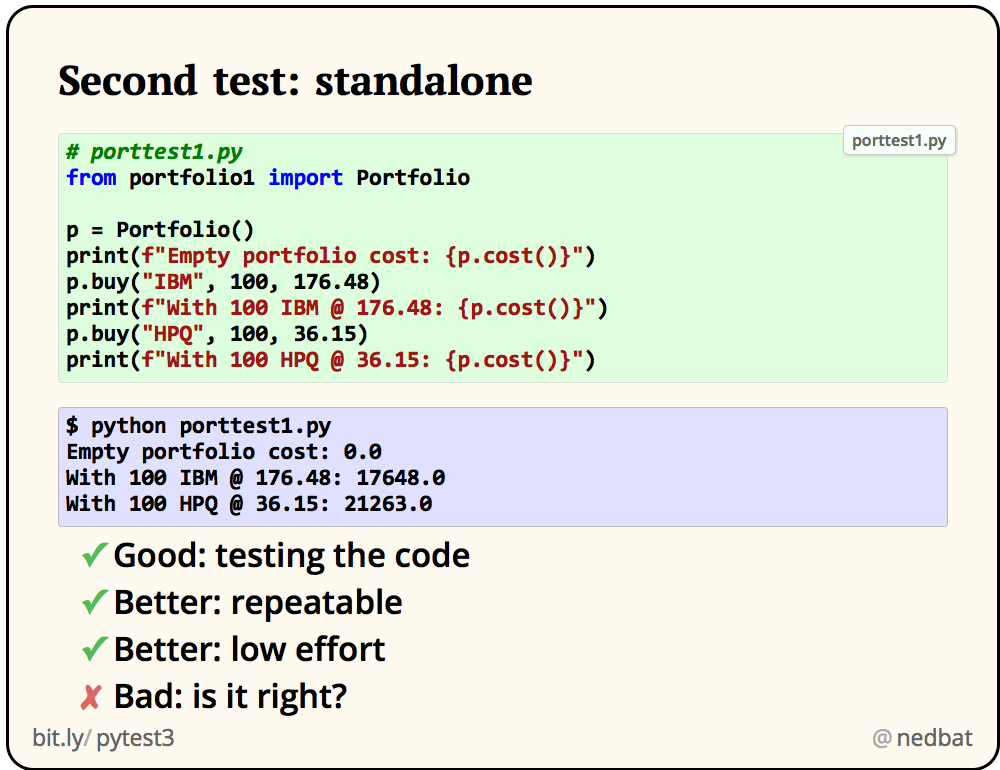 Second test: standalone