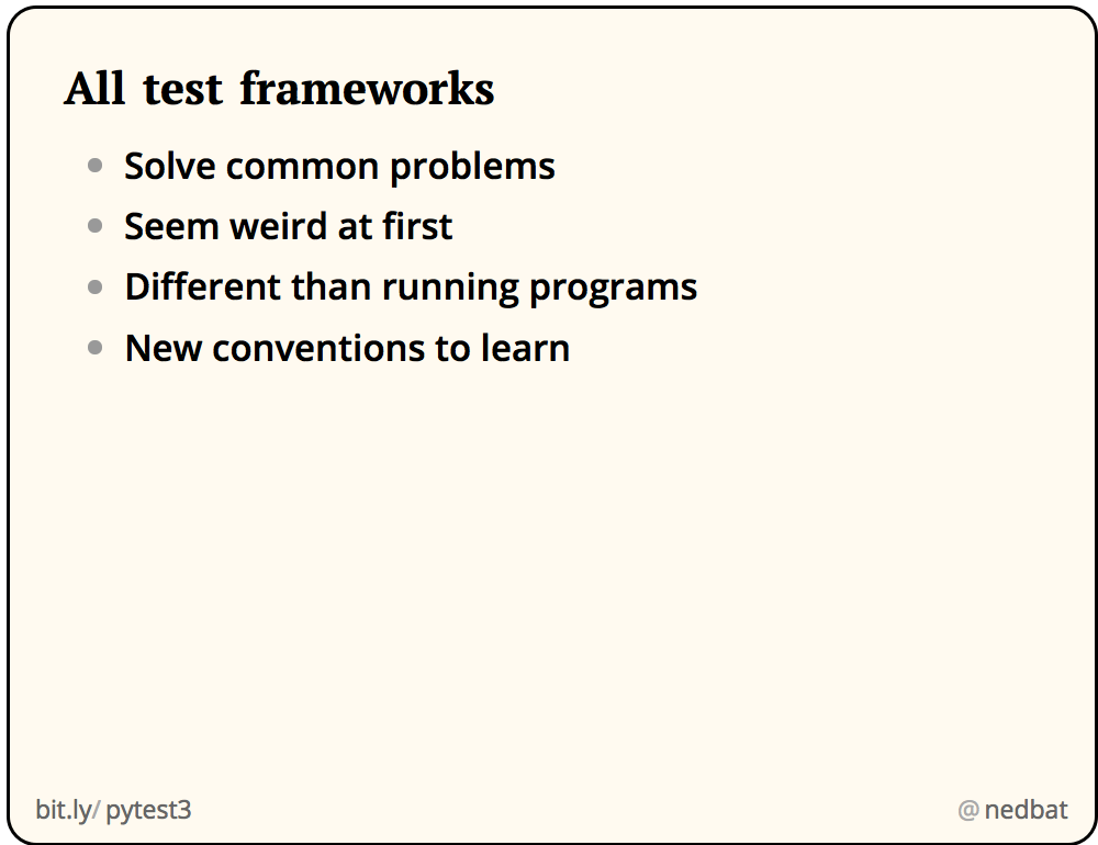 All test frameworks