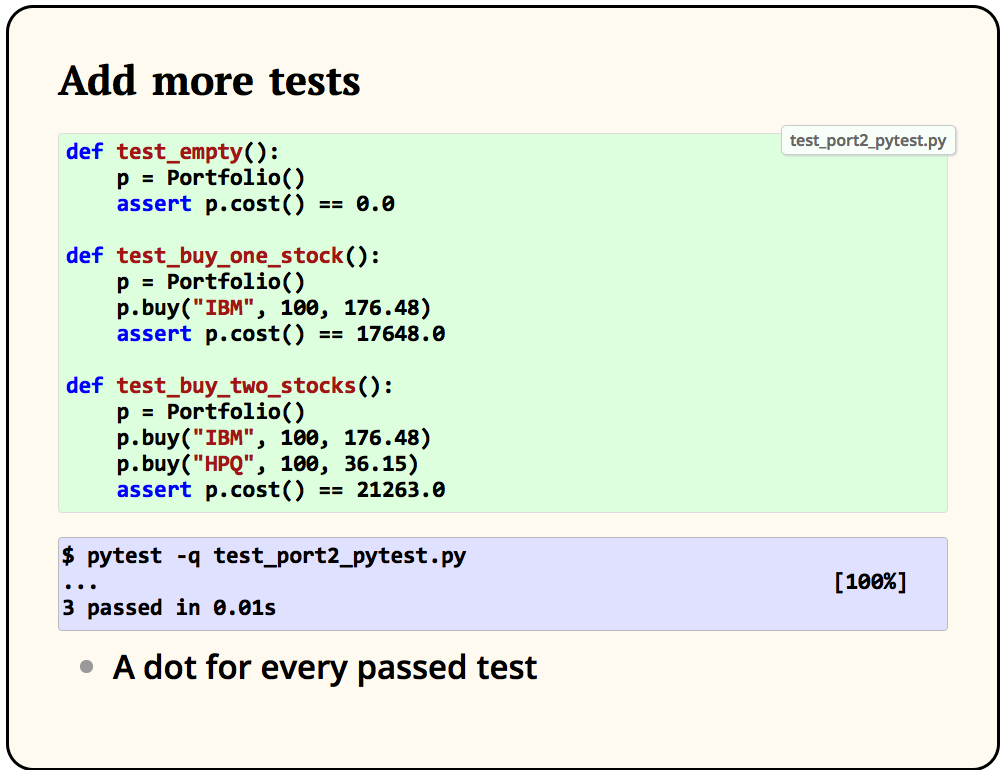 Add more tests